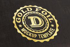 Free Logo/Text Mock-up – Gold Foil on Behance