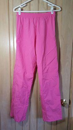 "HELLY HANSEN LIFA VTG Pink Nylon Full Side Zip Lined Ski Snow Pants Size 27""/28"" #HellyHansen"