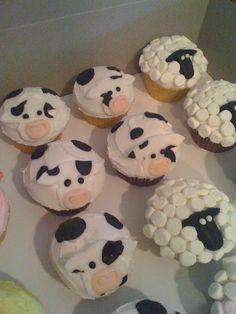 Farm animal cupcakes :)
