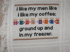 hahahaha.  love that its cross stitch too.