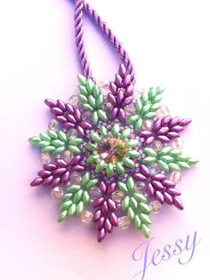 Tutorial Big Iris Pendent by JessyPetitBijoux on Etsy