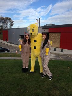 Students Emily and Beth donned their best onesies in a bid to raise money for the worthy cause. 2013.