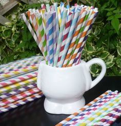 24 PAPER DRINKING STRAWS, PARTY TABLE DECORATIONS, 21ST PARTY DECORATIONS | eBay