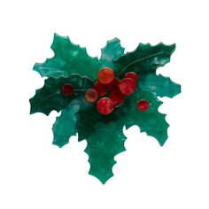 Holly Jolly Brooch by Erstwilder Christmas Gifts, Christmas Tree, Holiday, Christmas Clothes, Holly Wreath, Holly Leaf, Red Berries, Keepsake Boxes, Flower Brooch