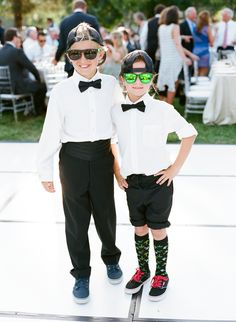 Ring Bearers in Classic Black Bow Ties