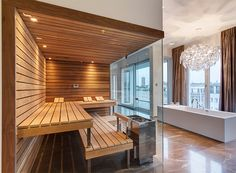 Welcome to Prestige Saunas, the exclusive UK supplier of Kung Saunas from Switzerland. Luxury Saunas & Steam room design & installation for home & commercial wellness. Saunas, Sauna Steam Room, Sauna Room, Design Sauna, Sauna A Vapor, Sauna Hammam, Spa Rooms, Infrared Sauna, Minimalist Bathroom
