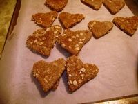 Low protein, homemade dog treats. Excellent for dogs with liver and kidney problems. Making them for Rigby!