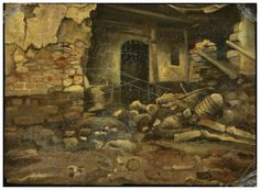 Demiak: Kolontar, Hungary, 2010. 14 x 20 cm. Oil & lacquer on MDF, 2011