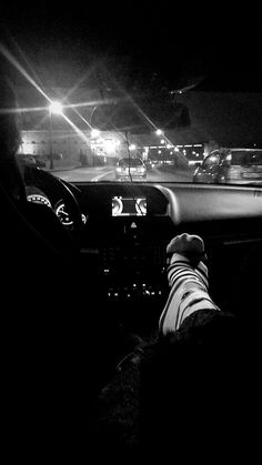 Couple In Car, Tumblr Car, Fred Instagram, Late Night Drives, Sunflower Wallpaper, Black And White Aesthetic, Night Driving, Fake Photo, Photos Tumblr