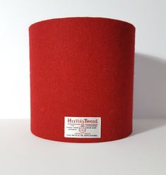 Harris Tweed Lampshade in a plain red twill. A bright shade of red available in various shapes and sizes. Great for gin bottle lamps and making a statement! Red Lamp Shade, Bottle Lamp Kit, Handmade Lampshades, Ceiling Pendant, Pendant Lights, Scottish Gifts, Scottish Fashion, Gin Bottles, Country Interior