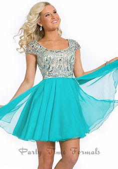 Party Time Cap Sleeve Homecoming Dress 6303 db28e4910