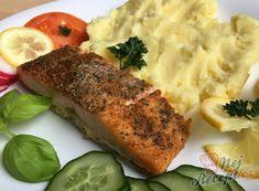 Pečený losos na másle | NejRecept.cz Polish Recipes, Polish Food, Cooking Light, Ham, Mashed Potatoes, Food And Drink, Pork, Fish, Chicken
