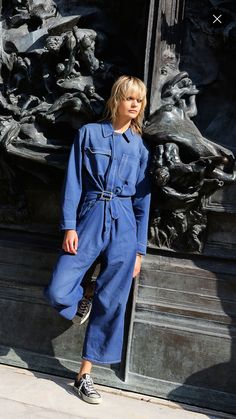 ZAFUL offers a wide selection of trendy fashion style women's clothing. Jacket Outfit, Jumpsuit Outfit, Denim Jumpsuit, Denim Overalls, Womens Fashion Online, Latest Fashion For Women, Denim Street Style, Estilo Jeans, Cropped Denim Jacket