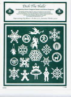 Christmas paper cutting patterns.