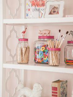 DIY mason jars are a great way to make art supplies double as décor