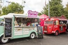 Food vans at 2013 Classic Car Boot Sale