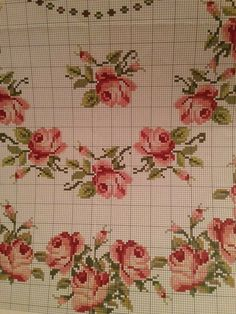 Hobbies And Crafts, Diy And Crafts, Cross Stitch Rose, Cross Stitching, Needlepoint, Crochet Projects, Hand Embroidery, Needlework, Decoupage