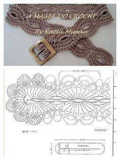 36 ideas for crochet free diagram ganchillo Crochet Belt, Bonnet Crochet, Mode Crochet, Crochet Diy, Crochet Diagram, Crochet Woman, Crochet Chart, Crochet Motif, Crochet Stitches