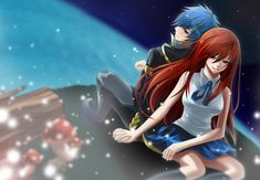 anime: fairy tail, erza and jellal