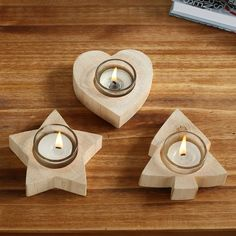 Handmade Pine Folk Art Heart/Tree/ Star Candle Holder European Style Home Decorative Ornaments Souvenir Wood Decoration-in Wood Crafts from Home & Garden on Aliexpress.com | Alibaba Group