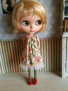 Liberty and Tulle Joni Dress set for Blythe par moshimoshistudio