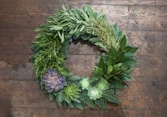 How to make a herb & succulent wreath with florist Grace & Thorn