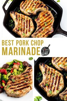 The Best Pork Chop Marinade is easy to make and perfect for any preparation of pork chops whether they are pan fried, baked, or grilled. #porkchopmarinade #marinaderecipe Pork Recipes For Dinner, Real Food Recipes, Healthy Recipes, Grill Meals, Grilling Recipes, Best Pork Chop Marinade, Mustard Pork Chops, Baked Pork Chops, Home Chef