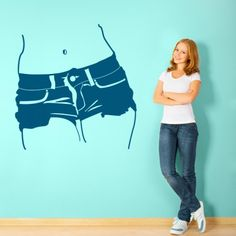 Mit diesem Motiv zeigst du deine Vorliebe für Hotpants und natürlich das du ein Fan vom Sommer bist. #Hotpants #Fashion #Wadeco // http://www.wadeco.de/hotpants-jeans-wandtattoo.html