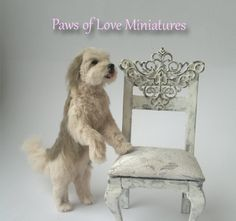 scale miniature poseable dog by Mary Anderson - Paws of Love Miniatures Pet Dogs, Dog Cat, Pets, Felt Animals, Cute Animals, Scale Art, Miniature Dogs, Realistic Dolls, Stop Motion