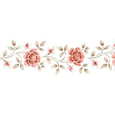 Use our Rose Border Stencils to create stenciled stripes or embossed borders. This petite border is perfect for stenciling or embossing on furniture and decorative items. Use these flower stencils for