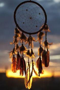 Traumfänger im Sonnenuntergang