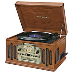 Crosley 5-In-1 Classic Music Center | http://www.stoneberry.com