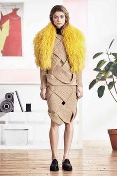 braided knit camel - Linienyc look book F/W 2015