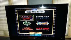 RADICA Sega Genesis 16 bit Plug N Play ~ Arcade legends 6-1 ~ SONIC 2, THE OOZE  #RADICA