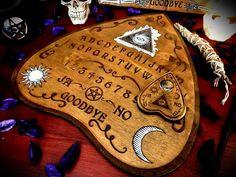 "Ouija board ""The Mystical Eye"" occult paganism wicca divination magic witchcraft medium occultism spiritism spell pagan symbolism satanism Pagan Witch, Wiccan, Witchcraft, Witches, Ouija, Witch Board, Futhark Runes, Vintage Halloween, Creepy Halloween"