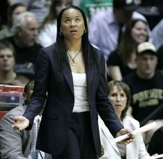 By Michael Heinz/Journal & Courier-- South Carolina coach Dawn Staley can't believe a call during their game against Purdue Monday, March 19, 2012, at Mackey Arena in West Lafayette. Purdue lost 72-61.