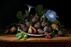 Figs Band Morning Glories - Francisco de Zurbaran