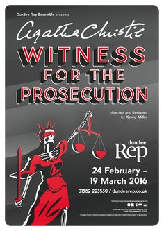 Witness for the Prosecution - my artwork for Dundee Rep Theatre's 2016 production.