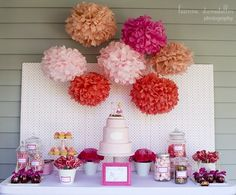 This dessert bar would be perfect, with jars full of candy and trays full of cupcakes all in the school colors!