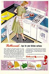 There's Actually a REAL Rubbermaid! (saltycotton) Tags: kitchen vintage magazine ad housewares advertisement stove laundry 1950s rubbermaid washingmachine household housewife washer appliances 1953 goodhousekeeping