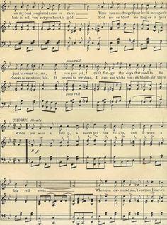 Antique Images: Digital Background of Sheet Music: Vintage Sheet Music Clip Art