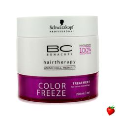 Schwarzkopf BC Color Freeze Treatment (For Colour-Treated Hair) 200ml/6.7oz #Schwarzkopf #HairCare #HairTreatment #FREEShipping #StrawberryNET