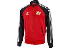 2570d26e9 adidas Manchester United Superstar Track Jacket - Red & Black -  SoccerPro.com