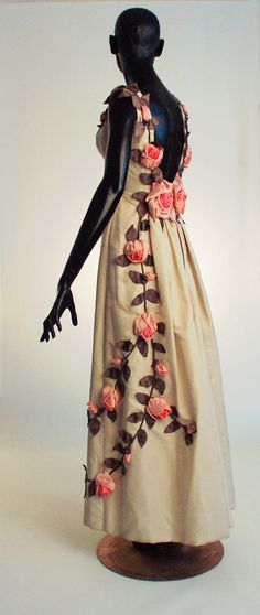 "Debutante dress ""American Beauty,"" by Ann Lowe, 1958-60, from the Black Fashion Museum Collection at the Smithsonian"
