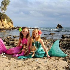 Happy Mermaid Monday, in 'shellebration' take a swim, check out the NEW FinFriends.com or take advantage of the deal of the week. Get a matching Celtic Green tail and top for your 18' doll.