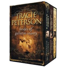 If you love westerns and christian romance then these are a good read....Brides of Gallatin County series by Tracie Peterson