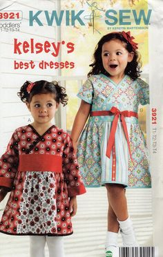 Kwik Sew 3921 Free Us Ship  Toddler Girls Kelsey's Best Dress  Size 1 2 3 4 2011 Out of Print New Sewing Pattern Brand New ff by LanetzLiving on Etsy