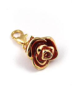 disney couture beauty & the beast rose charm.