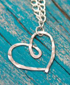 DIY Hammered Heart Necklace