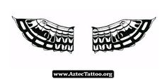 Aztec Wings Tattoo Designs 08 - http://aztectattoo.org/aztec-wings-tattoo-designs-08/